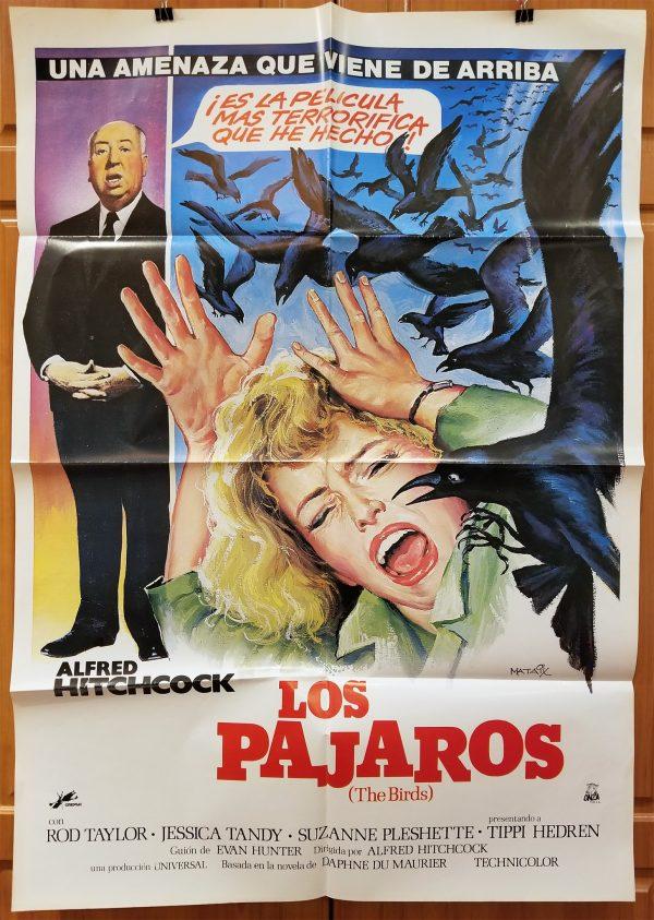 Original Spanish Movie Poster From The Birds