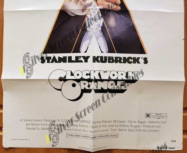 One Sheet Movie Poster from Clockwork Orange