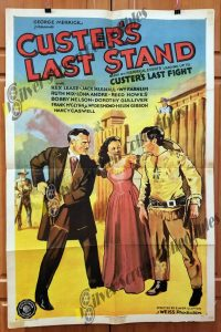 One Sheet Movie Poster from Custer's Last Stand