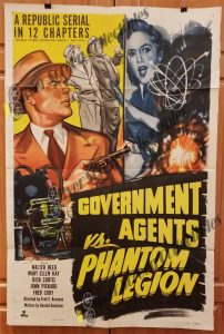 One Sheet Movie Poster Government Agents vs Phantom Legion