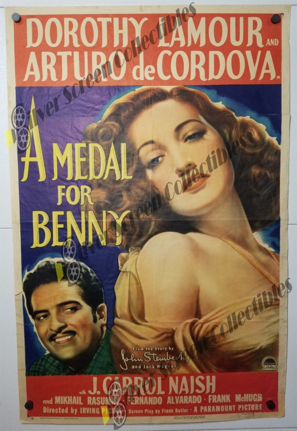 One Sheet Movie Poster from A Medal for Benny