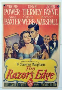 One Sheet Movie Poster from The Razor's Edge