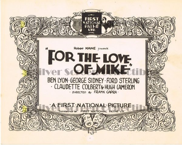 Mini-Lobby Card from For the Love of Mike