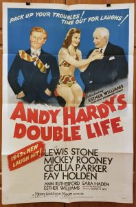 One Sheet Movie Poster From Andy Hardy's Double Life