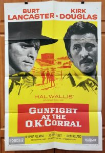 One Sheet Movie Poster From Gunfight at the O.K. Corral