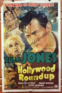 One Sheet Movie Poster From Hollywood Roundup