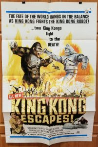 One Sheet Movie Poster From King Kong Escapes