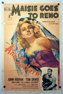 One Sheet Movie Poster From Maisie Goes to Reno