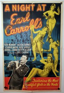 One Sheet Movie Poster From Night at Earl Carroll's