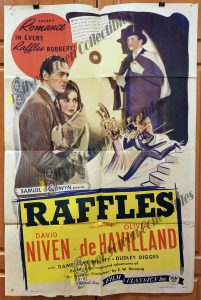 One Sheet Movie Poster From Raffles