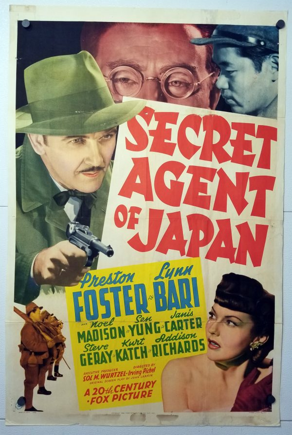 One Sheet Movie Poster From Secret Agent of Japan
