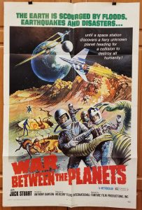 One Sheet Movie Poster From War Between the Planets