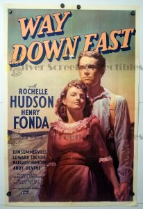 One Sheet Movie Poster From Way Down East