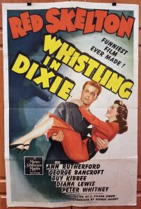 One Sheet Movie Poster From Whistling in Dixie