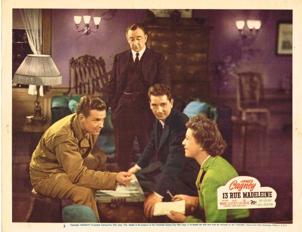 Lobby Card from 13 Rue Madeleine