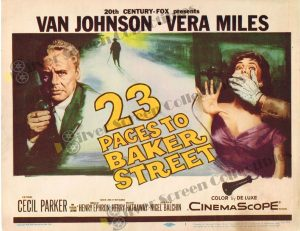 Lobby Card From 23 Paces to Baker Street