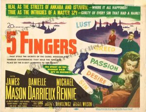 Lobby Card From 5 Fingers