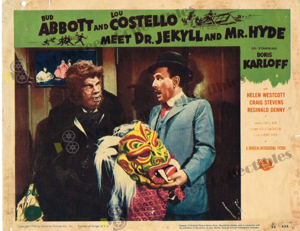 Lobby Card From Abbott & Costello Meet Dr. Jekyll and Mr. Hyde