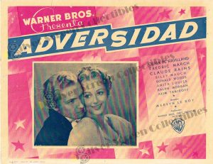 Lobby Card from Adversidad