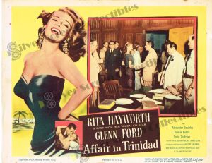 Lobby Card From Affair in Trinidad