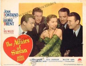 Lobby Card From The Affairs of Susan