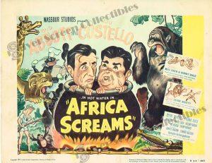Lobby Card From Africa Screams