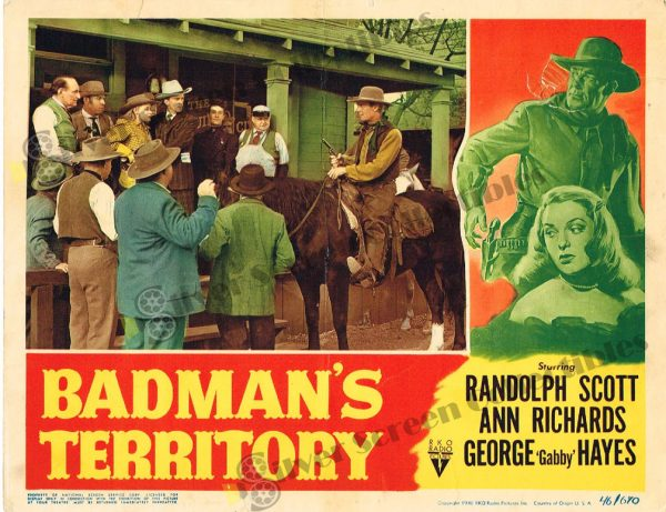 Lobby Card From Badman's Territory