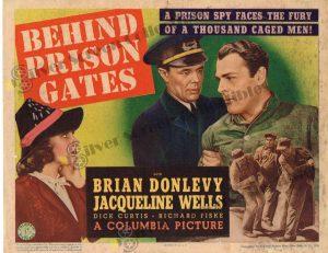 Lobby Card From Behind Prison Gates (AKA Escape From Alcatraz)