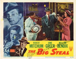 Lobby Card From The Big Steal