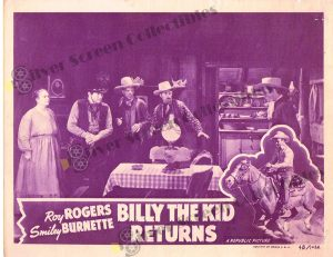 Lobby Card From Billy the Kid Returns