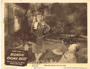Lobby Card from Blondie Knows Best