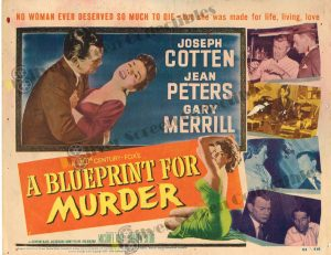 Lobby Card From A Blueprint for Murder