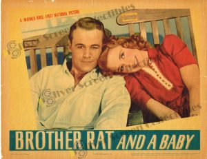 Lobby Card From Brother Rat and a Baby