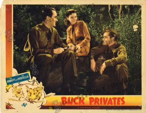 Lobby Card From Buck Privates