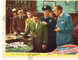 Lobby Card From Bud Abbott and Lou Costello in Hollywood