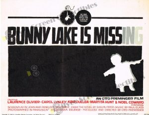 Lobby Card From Bunny Lake is Missing
