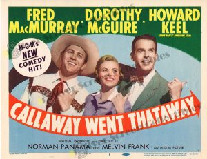 Lobby Card From Callaway Went Thataway