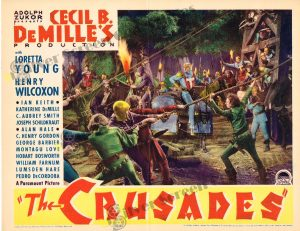 Lobby Card from The Crusades