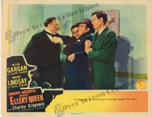 Lobby Card From Enemy Agents meet Ellery Queen