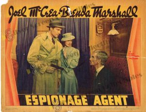Lobby Card From Espionage Agent