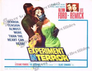 """Lobby Card From Experiment in Terror (aka """"Grip of Fear"""")"""