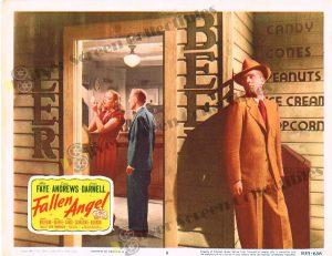 Lobby Card From Fallen Angel