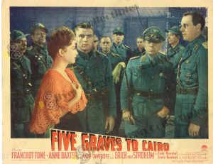 Lobby Card from Five Graves to Cairo
