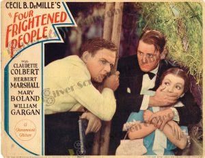 Lobby Card from Four Frightened People