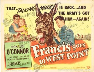 Lobby Card From Francis Goes to West Point