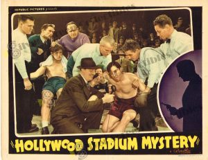Lobby Card From Hollywood Stadium Mystery