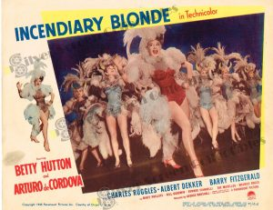 Lobby Card from Incendiary Blonde