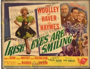 Lobby Card from Irish Eyes Are Smiling