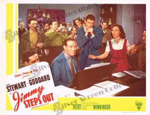 "Lobby Card from Jimmy Steps Out (aka ""Pot O' Gold"")"