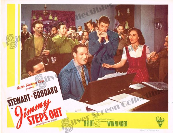 """Lobby Card from Jimmy Steps Out (aka """"Pot O' Gold"""")"""